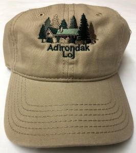 Khaki Adirondak Loj embroidered cap