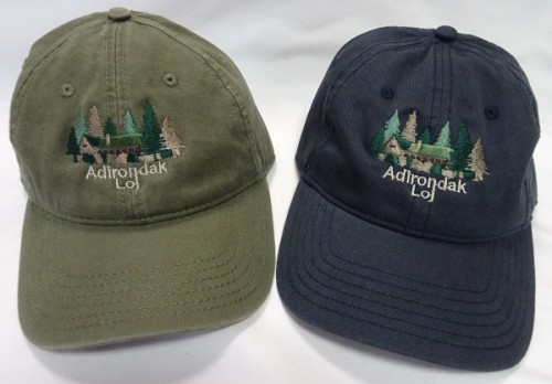 Image of cap with embroidered Adirondak Loj design