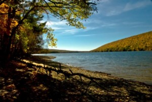 Canadice Lake in early fall