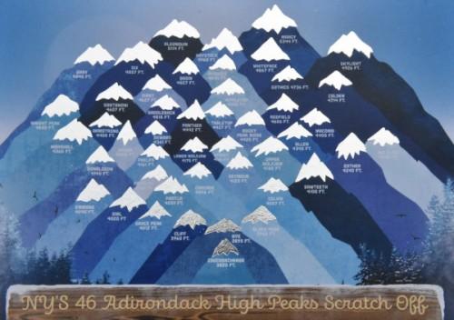 Winter High Peaks scratch off image