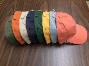 twill baseball caps in 8 colors