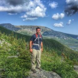 Josh Baker hiking