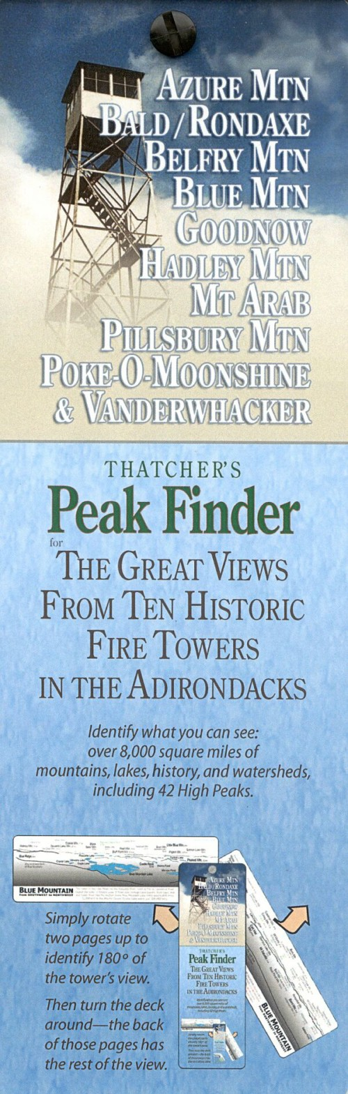 Thatcher's Peak Finder Fire Towers