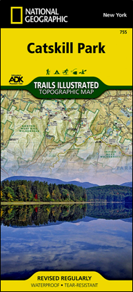 ADK National Geographic Catskill Park map #755