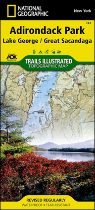 ADK National Geographic Lake George/Great Sacandaga map #743