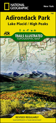 ADK National Geographic Lake Placid / High Peaks map #742