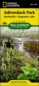 ADK National Geographic Northville/Raquette Lake map #744