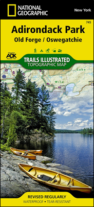 ADK National Geographic Old Forge/Oswegatchie Lake map #745