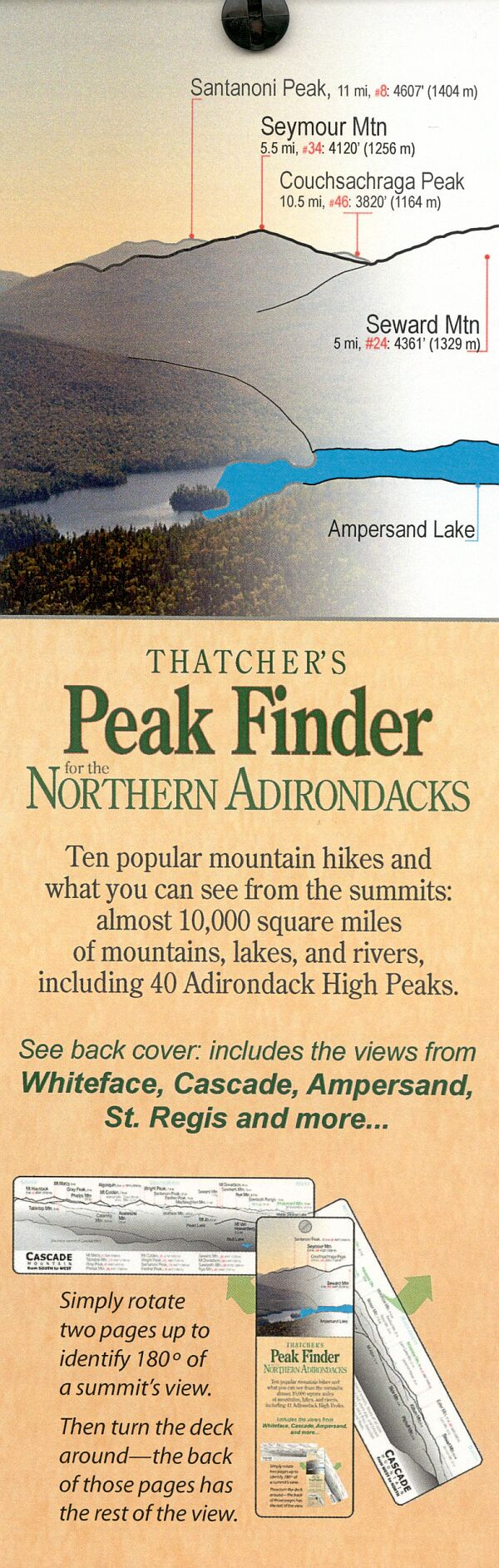 Thatcher's Peak Finder for the Northern Adirondacks