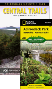 ADK Central Trails guide book and map pack