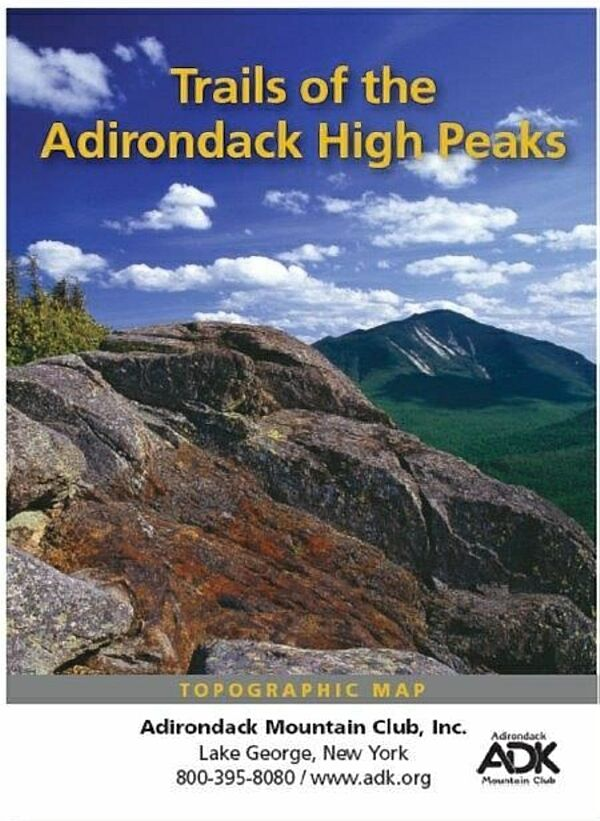 Trails of the Adirondack High Peaks Map  Adirondack Mountain Club