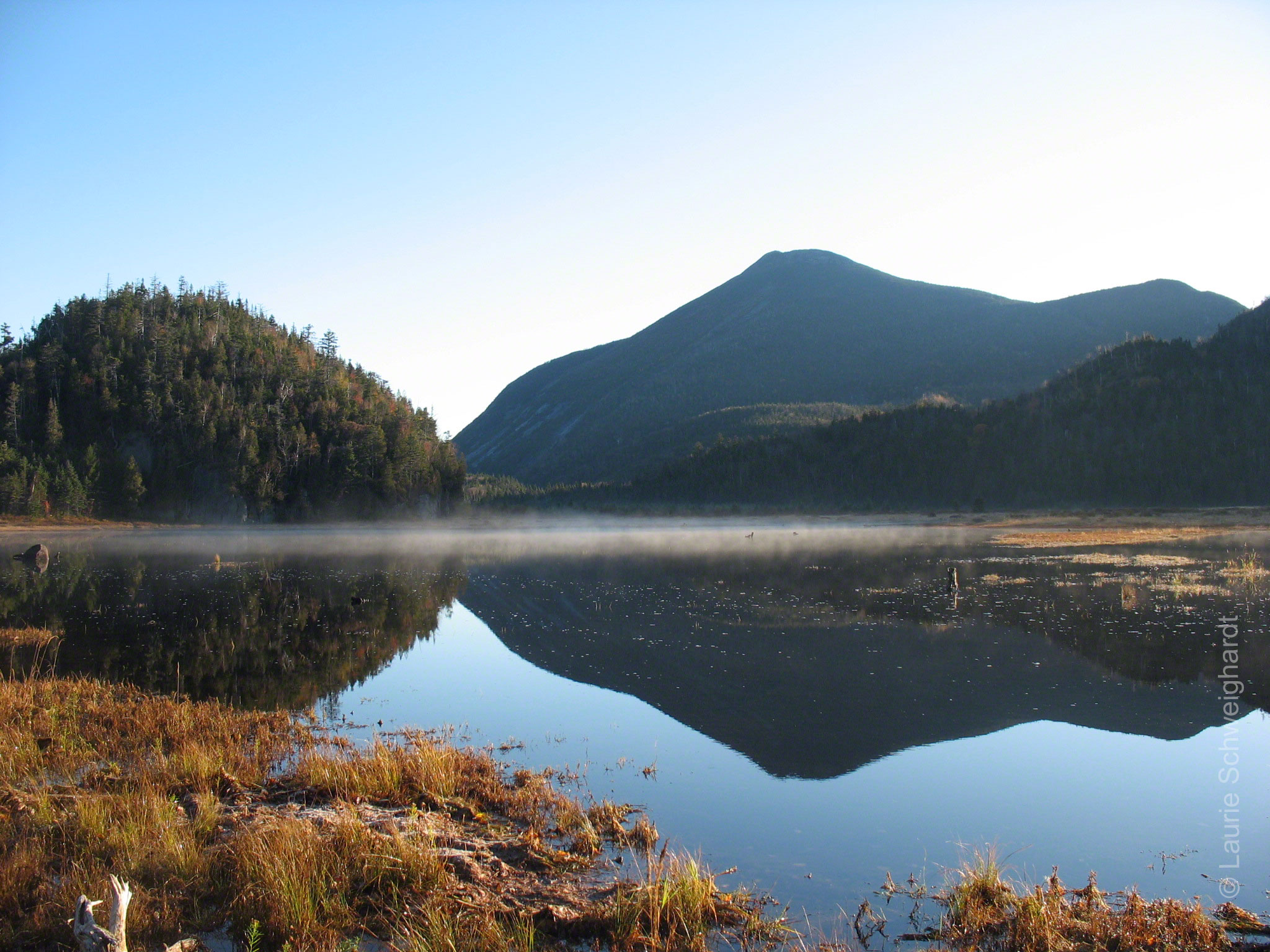 The view of Mount Colden from the Flowed Lands