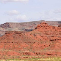 Red rock cliffs from San Juan River