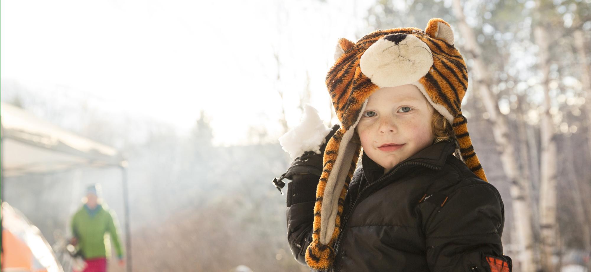 Child in Tiger Hat