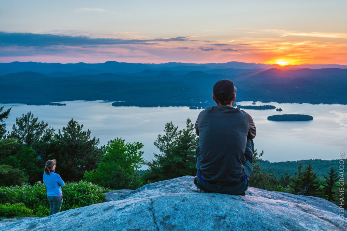 Sunset from Buck Mountain