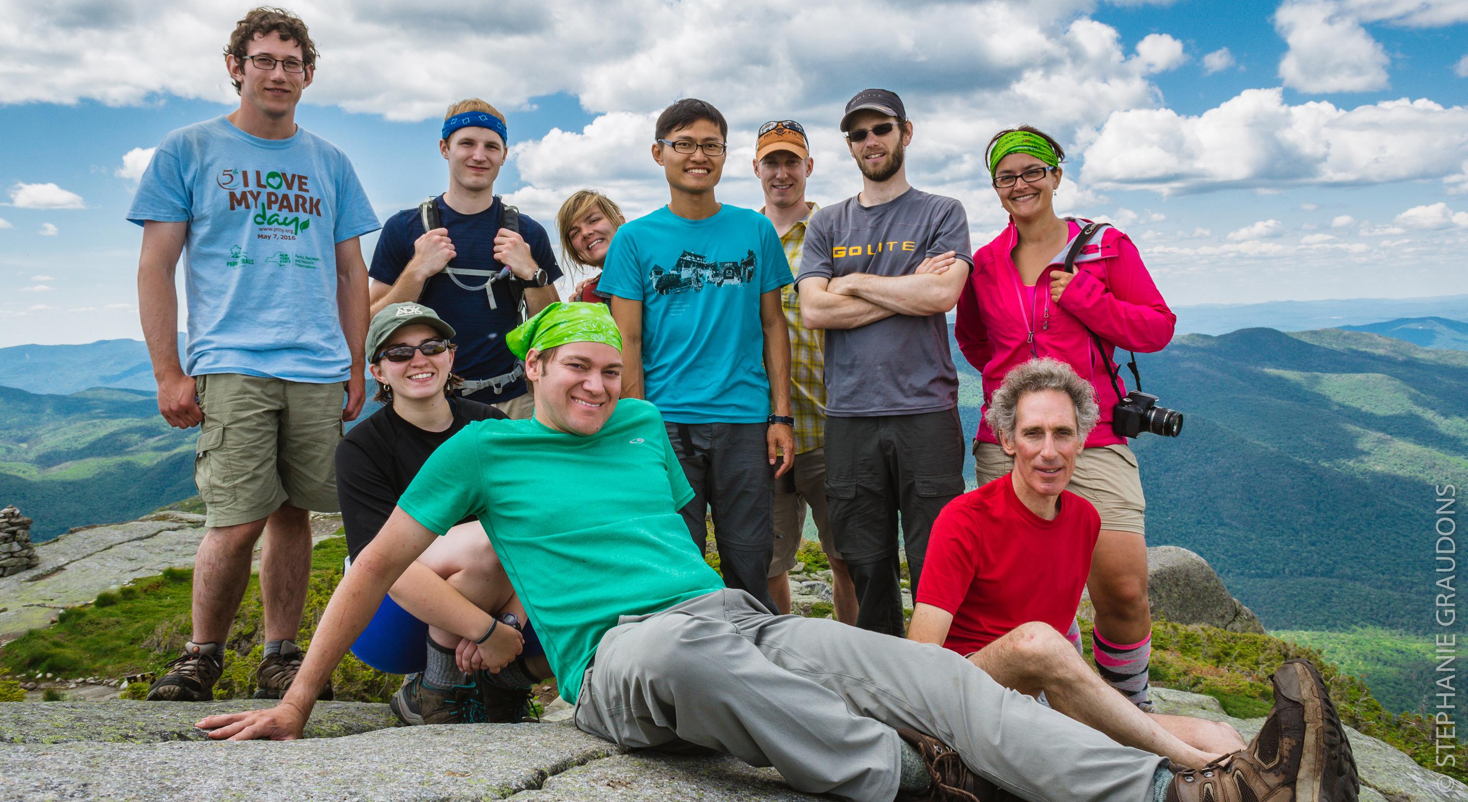 Hikers on top of Wright Peak