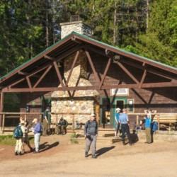 The front of the High Peaks Information Center