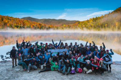 College group at Heart Lake