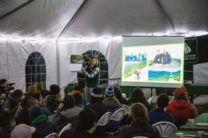 Tyler Socash giving an evening presentation