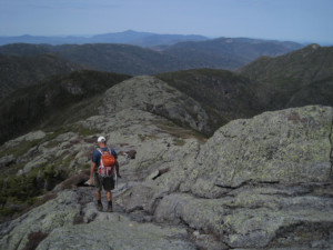 A hiker heads towards Iroquois from Algonquin