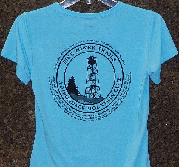 Women S Fire Tower T Shirt Adirondack Mountain Club