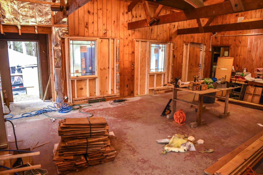 Renovating the interior of the High Peaks Information Center