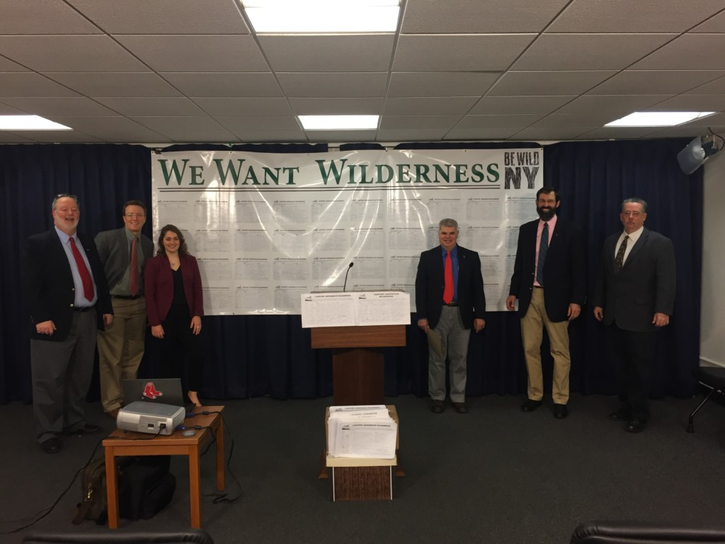 Representatives at a board meeting discussing the Boreas Ponds