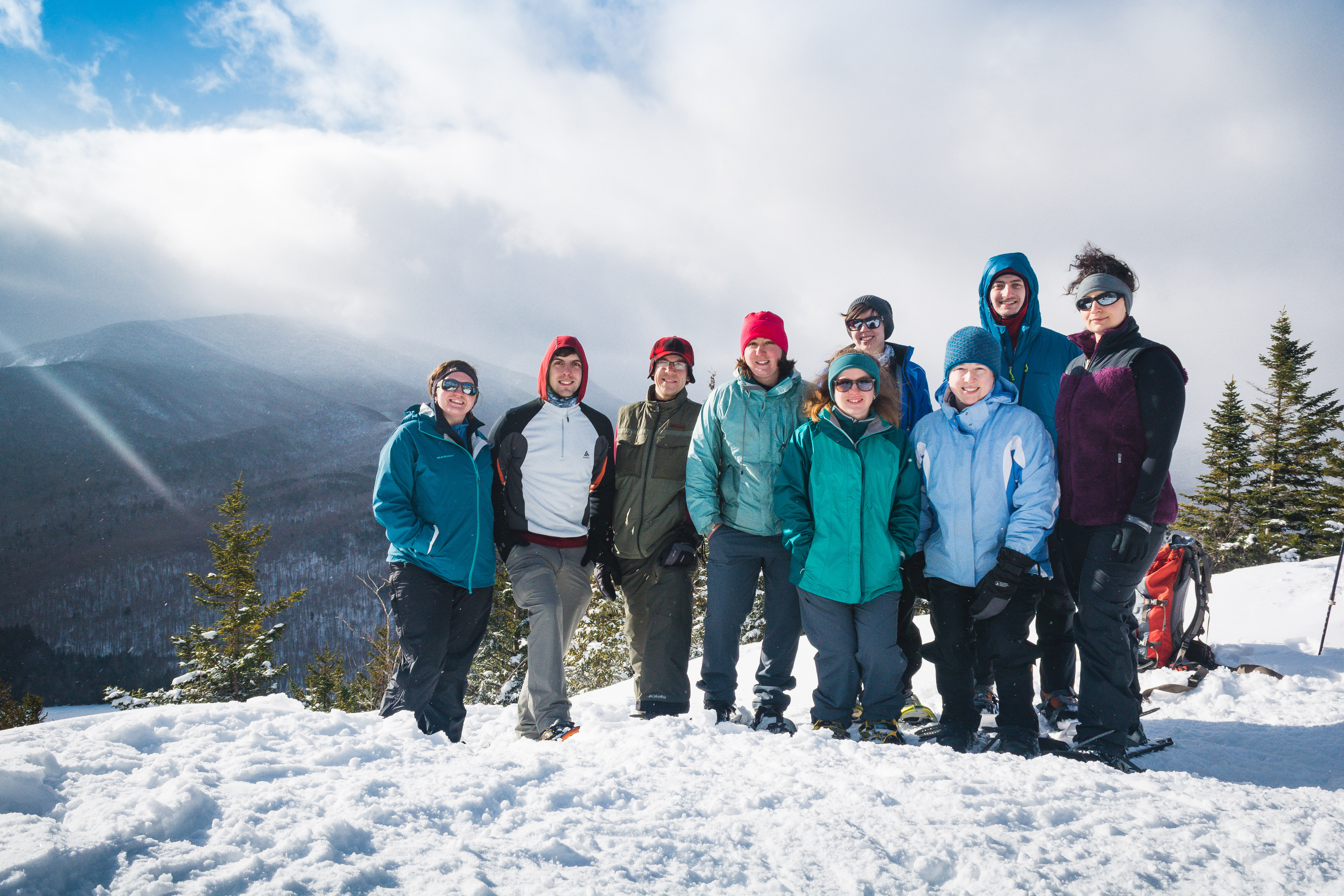 Young members on the summit of Mt. Jo