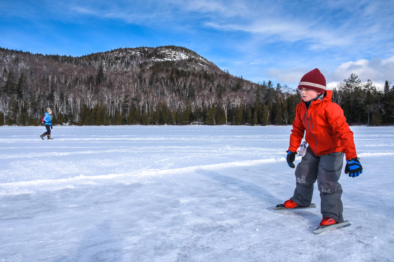 Skating on Heart Lake. Photo by Seth Jones