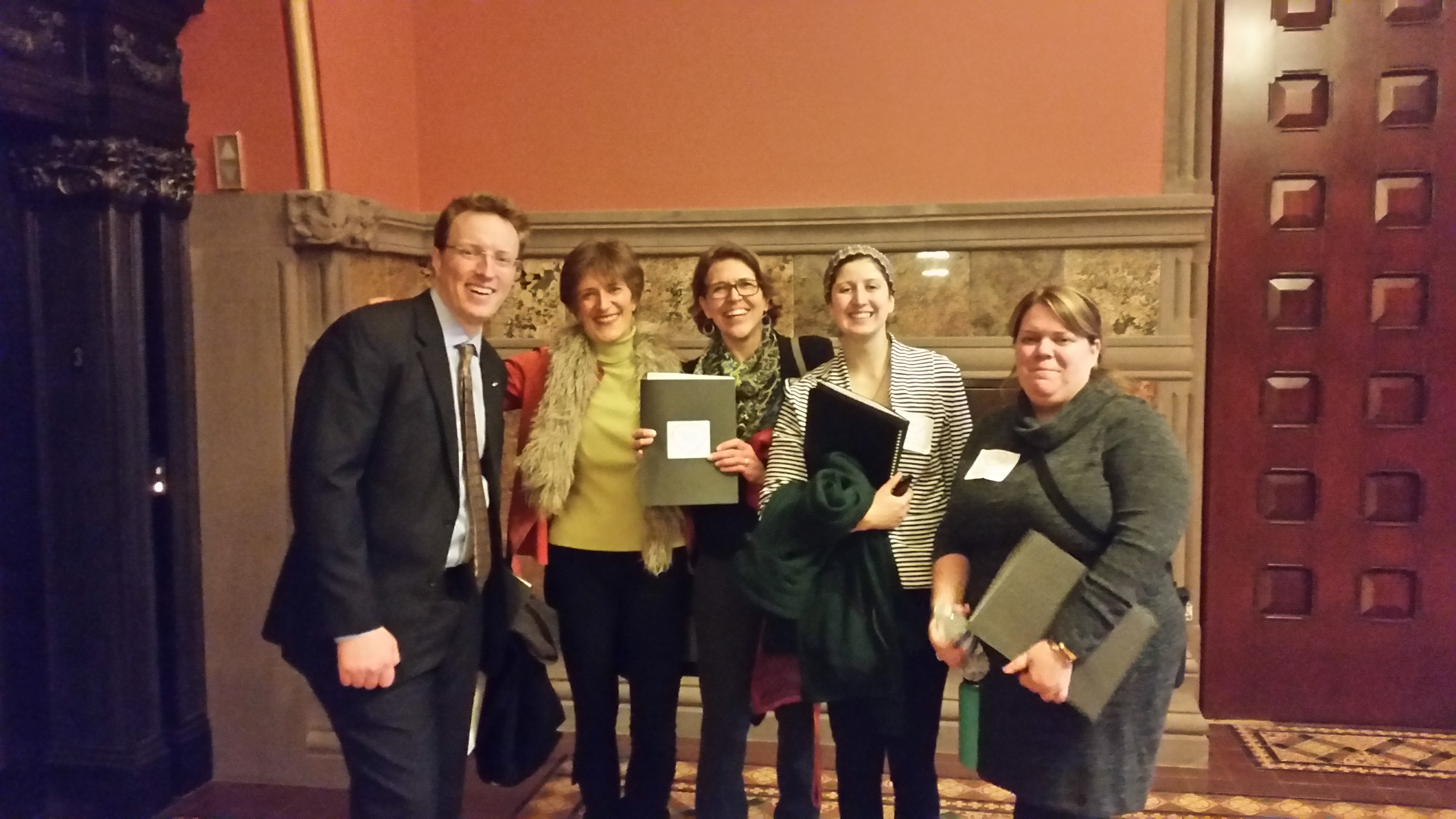 Environmental Lobbyists and volunteers in the NYS Capitol on EPF Lobby Day