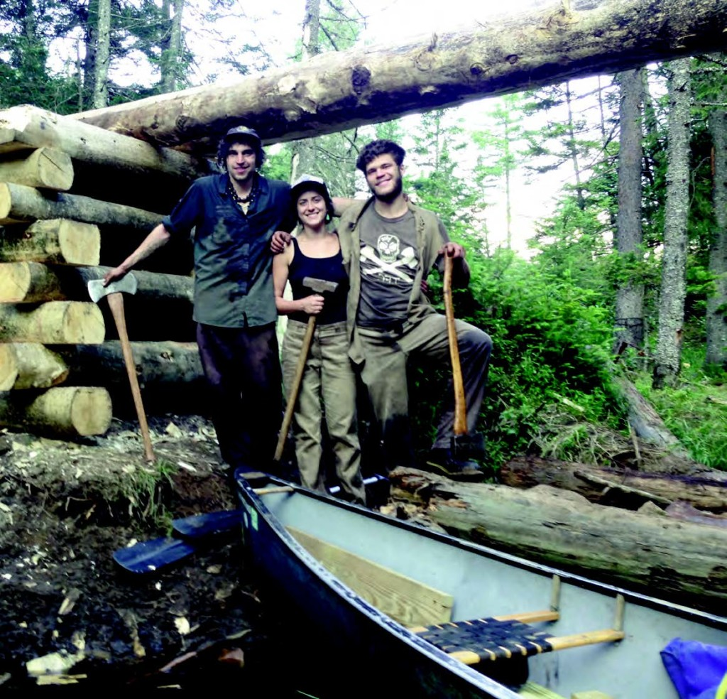 Dove Henry with trail crew members