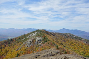 Fall colors from an open ridge in the Adirondacks