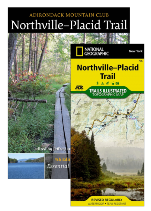 ADK Northville-Placid Trail guide book and map pack