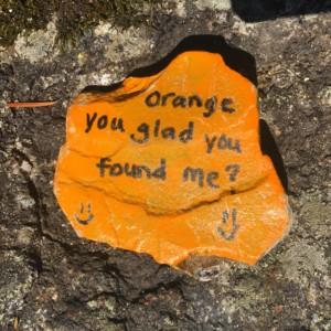 An orange kindess rock