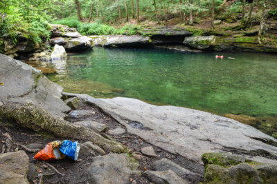 Garbage by the Blue Hole