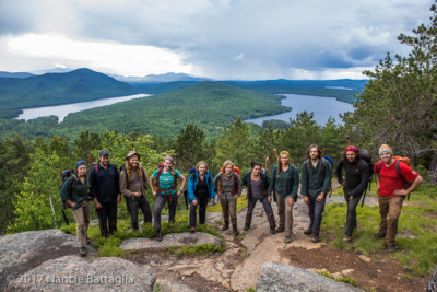 Part of the professional trail crew on Silver Lake Mountain