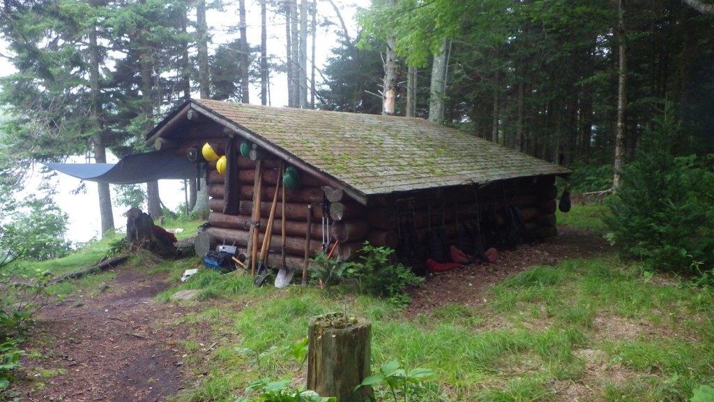 The lean-to campsite for the group