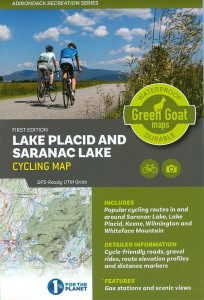 Lake Placid and Saranac Lake Cycling Map, first edition, from Green Goat maps