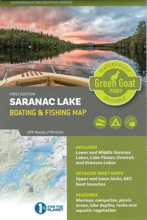 Saranac Lake Boating and Fishing Map