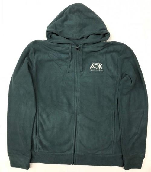 Men's green zip-up hooded jacket
