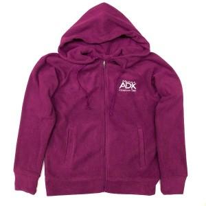 ADK raspberry fleece zip-up