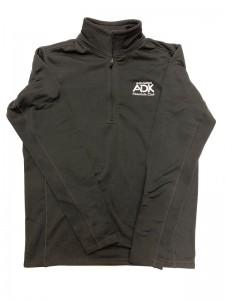Black men's thermal 1/4 zip jacket