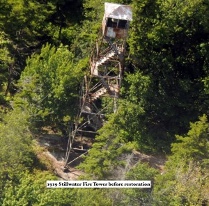 Aerial photo of the Stillwater Fire Tower