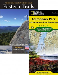 ADK Eastern Trails guide book and map pack