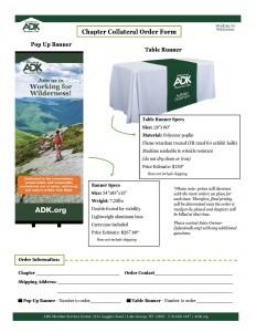 ADK Branded tabling materials