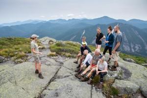 Summit Steward talks to a group