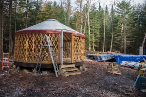 Building one of ADK's sleeping yurts