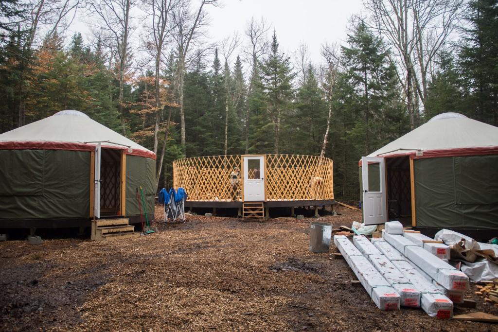 The framework for the new yurt