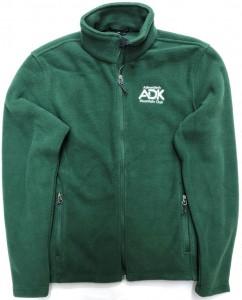 green men's fleece jacket