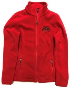 red women's fleece jacket
